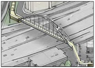 bike ped bridge rendering